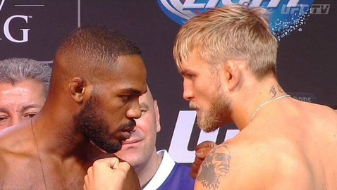 Jon Jones vs Alexander Gustafsson UFC 165 weigh-478x270