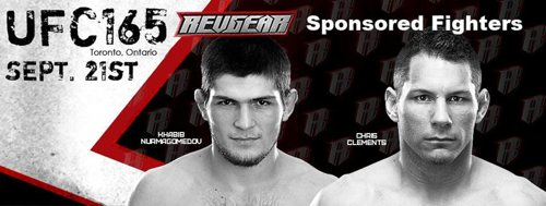 Revgear UFC 165 Sponsored Fighters