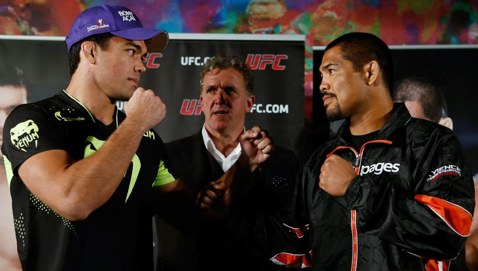 Lyoto Machida vs Mark Munoz faceoff