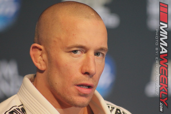 Georges S-Pierre UFC 167 open workout