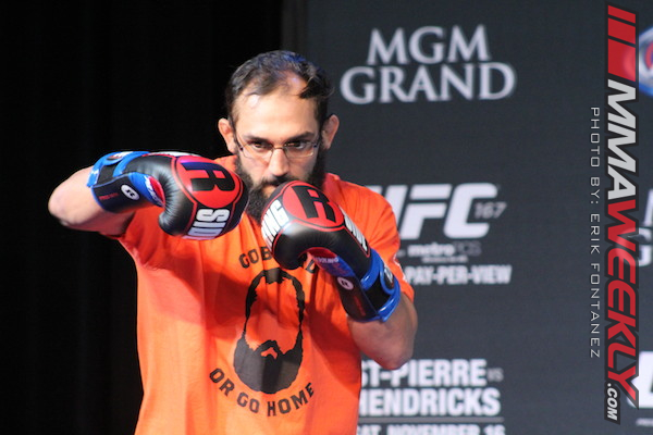 Johny Hendricks UFC 167 Open Workout