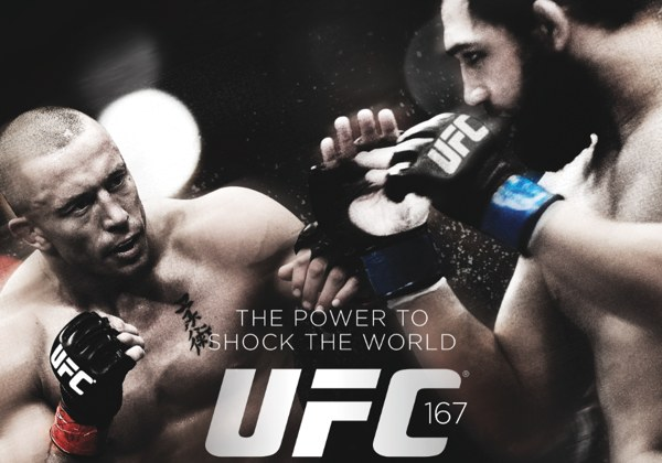 UFC 167 St-Pierre vs Hendricks Poster-110x77