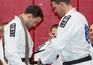 Frankie Edgar Gets Black Belt from Ricardo Almeida