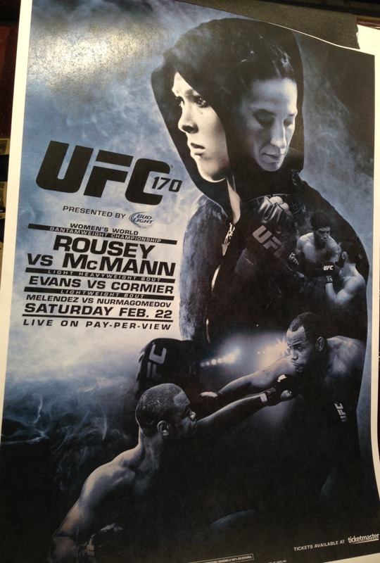 UFC 170 Rousey vs McMann Poster