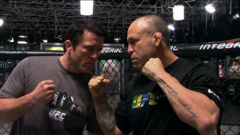 Chael Sonnen vs Wand Faceoff on TUF 3 Set