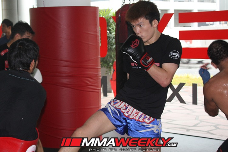 Shinya Aoki training