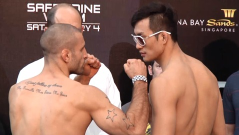 Tarec Saffiedine vs Hyun Gyu Lim UFC Singapore weigh