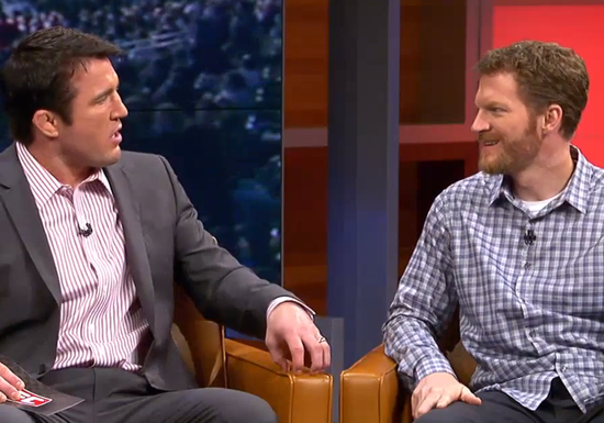 Chael Sonnen and Dale Earnhardt Jr