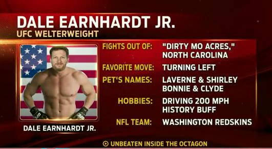 Dale Earnhardt Jr Tale of the Tape