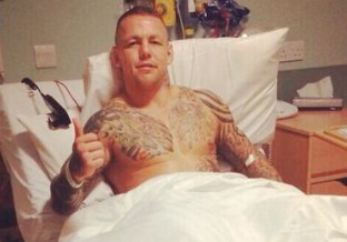 Ross Pearson Post Knee Surgery