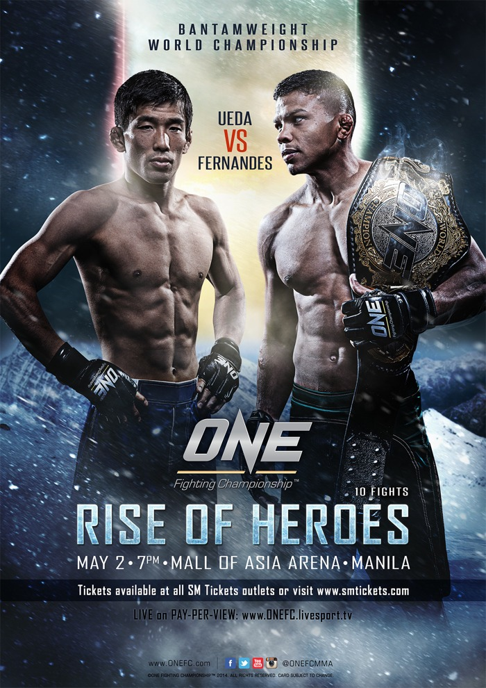 One FC 15 Rise of Heroes Fight Poster