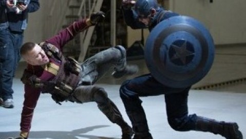 Georgs St-Pierre Captain America Fight Scene