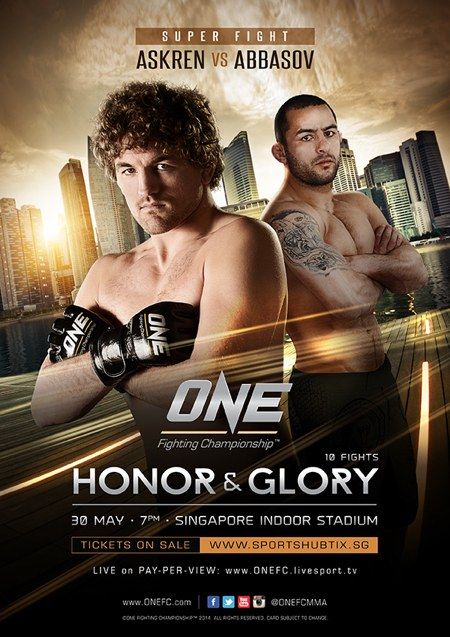 ONE FC 16_Honor and Glory Fight Poster