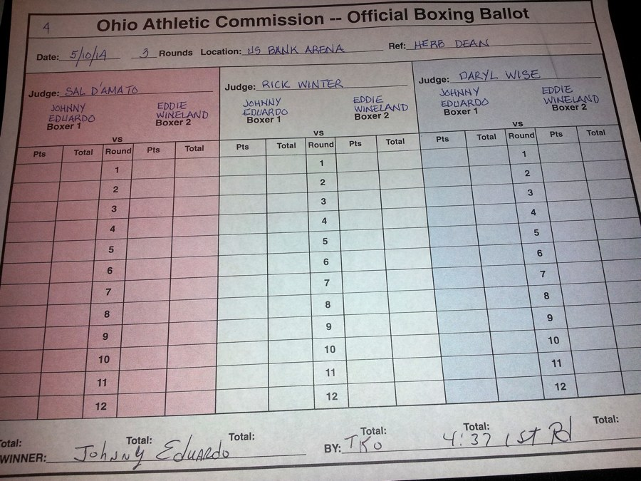 Eduardo vs Wineland Scorecard