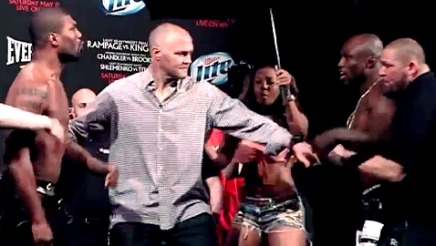 Rampage vs King Mo weigh-in
