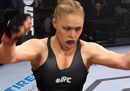 Ronda Rousey EA Game Screen