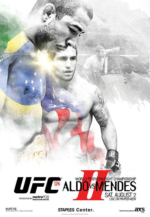 UFC 176 Fight Poster