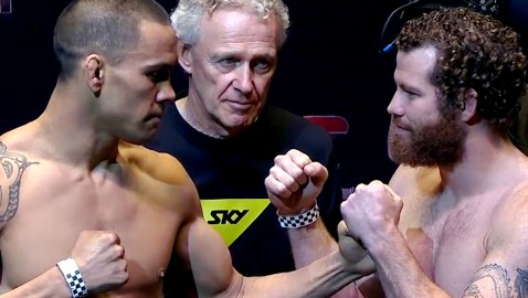 Te Huna vs Marquardt weigh-in