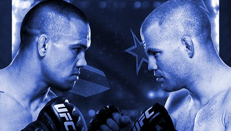 UFC Fight Night 43 Fight Poster-Blue