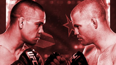 UFC Fight Night 43 Fight Poster-Red