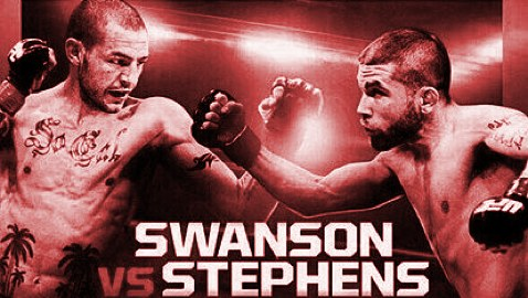 UFN 44 Swanson vs Stephens Fight Poster-red