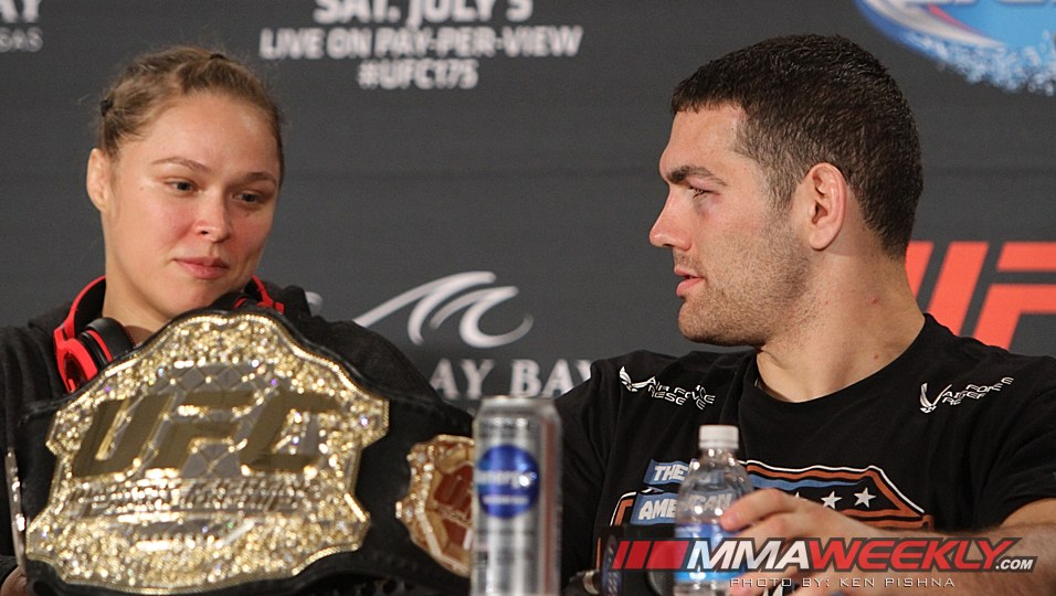 Ronda Rousey and Chris Weidman UFC 175