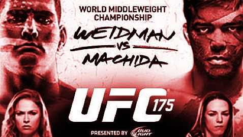 UFC 175 Horizontal Poster-red