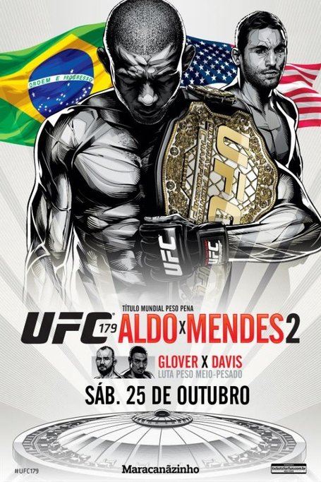 UFC 179 Aldo vs Mendes 2 Fight Poster