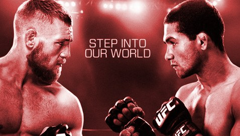 UFC Dublin McGregor vs Brandao Fight Poster-red