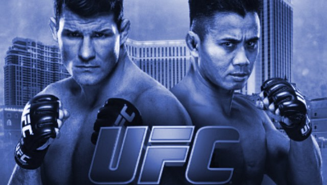 UFC Fight Night Bisping vs Le Fight Poster blue