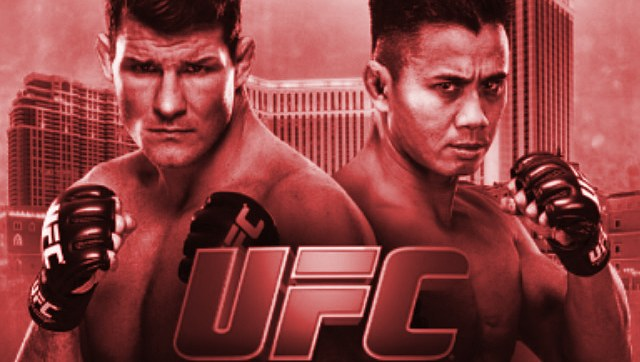 UFC Fight Night Bisping vs Le Fight Poster red