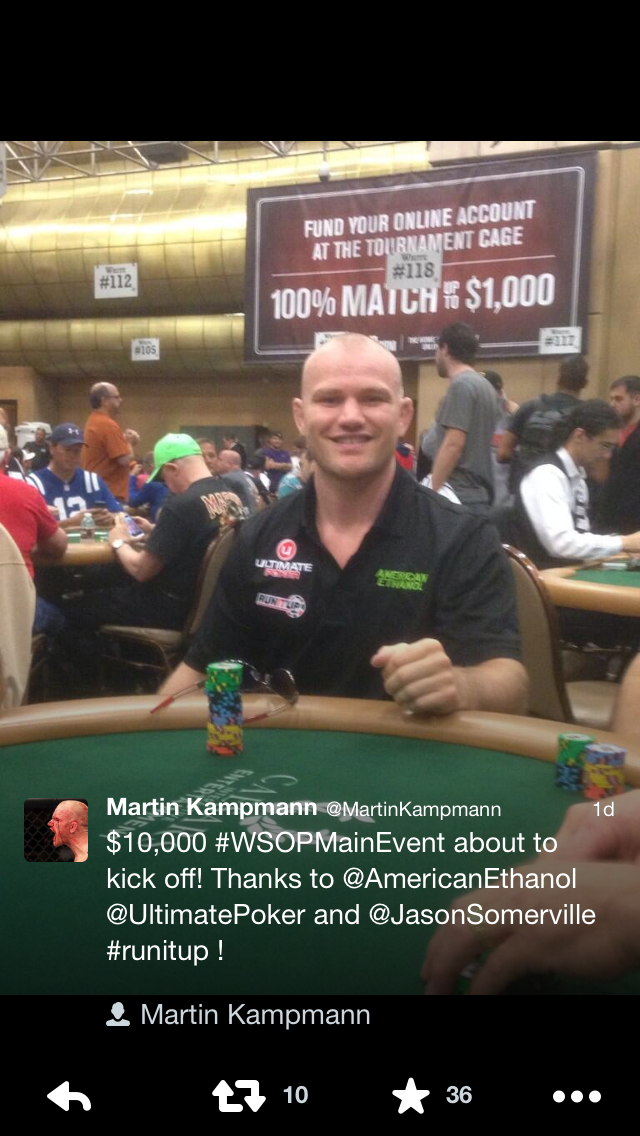 Martin Kampmann at the WSOP