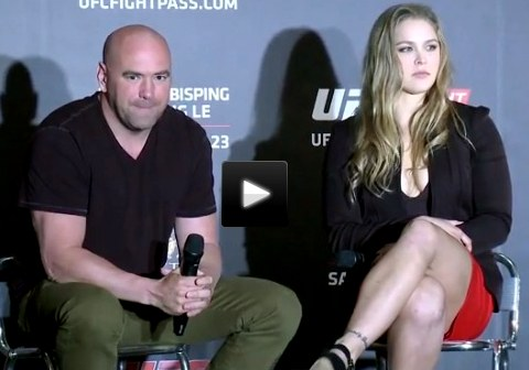 Dana White an Ronda Rousey Macao Video