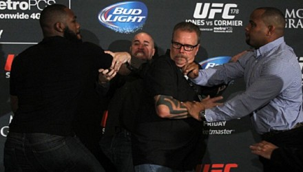 Jon-Jones-Daniel-Cormier-Brawl-UFC-178-Media-Day-750x370