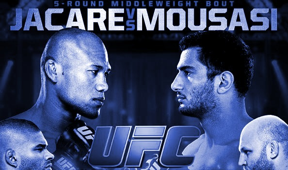 UFC Jacare vs Mousasi Fight Poster-blue