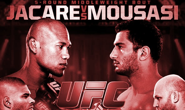 UFC Jacare vs Mousasi Fight Poster-red