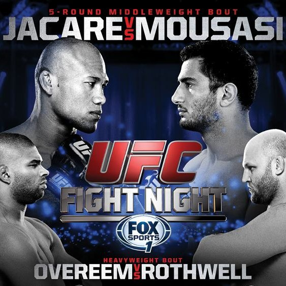 UFC Jacare vs Mousasi Fight Poster-sq