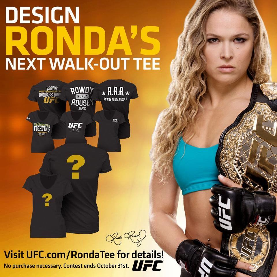 Design Ronda Rousey Walkout T-sq