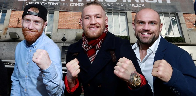 Patrick Holohan, Conor McGregor, Cathal Pendred