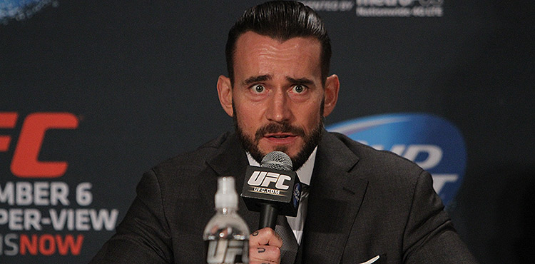 CM Punk at UFC 181