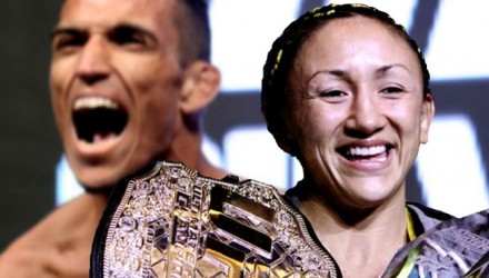 Charles Oliveira and Carla Esparza