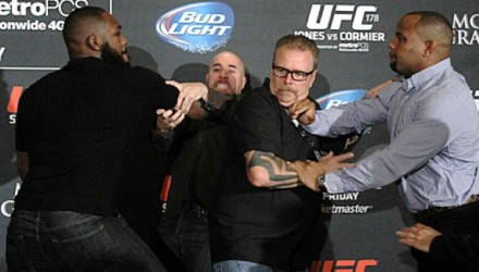 Jon Jones and Daniel Cormier brawl (fight)