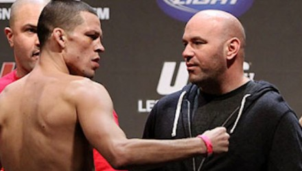 Nate Diaz and Dana White