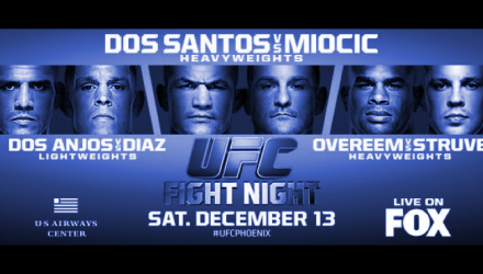 UFC on FOX 13 Poster hztl-blue
