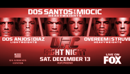 UFC on FOX 13 Poster hztl-red