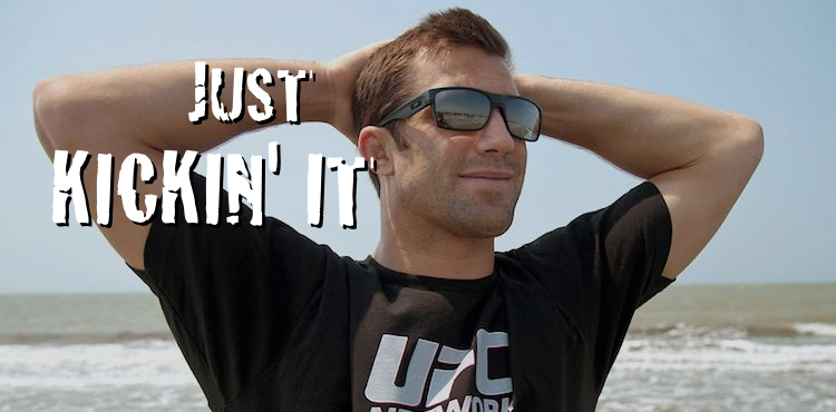 Luke Rockhold Kicking It