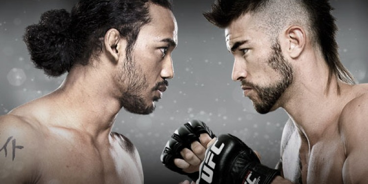 Benson Henderson vs Brandon Thatch Faceoff 750