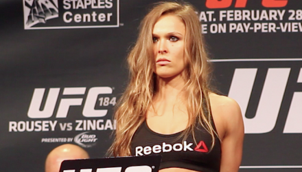 Ronda Rousey UFC 184 weigh-in