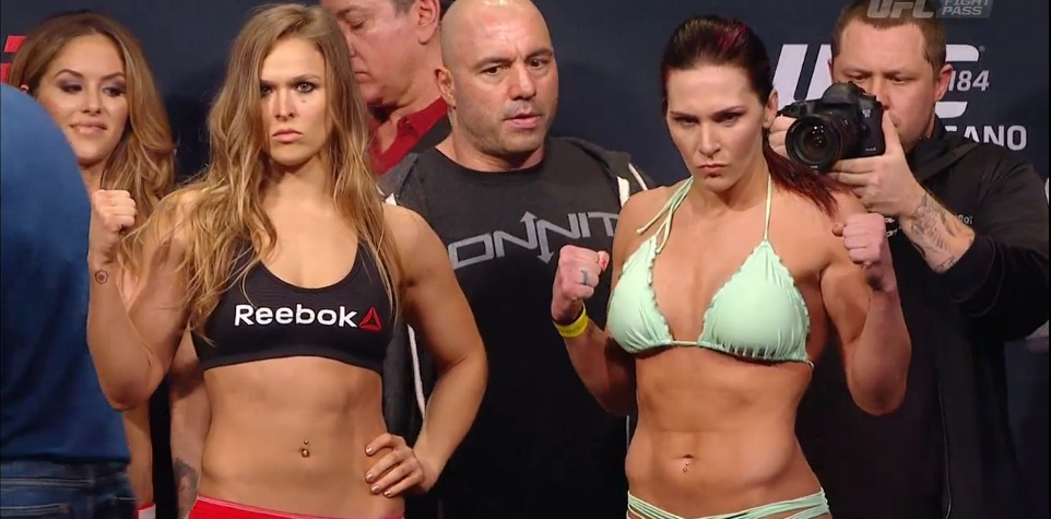 Ronda Rousey v Cat Zingano UFC 184 weigh