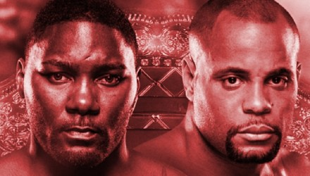 UFC 187 - Johnson vs Cormier Poster red